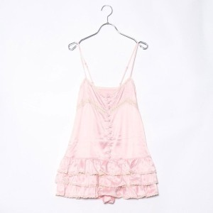 【SALE 78%OFF】ルーミィーズ Roomy's OUTLET ペプラムキャミコンビネゾン (ピンク)