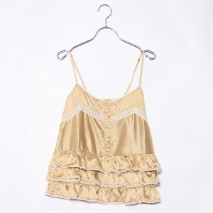 【SALE 88%OFF】ルーミィーズ Roomy's OUTLET ペプラムキャミ (イエロー)