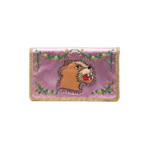 Gucci シルク クラッチバッグ - ピンク
