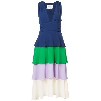 Novis layered colour block dress - ブルー