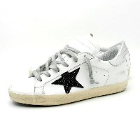 『セール SALE』ゴールデングース GOLDEN GOOSE【SNEAKERS SUPERSTAR】レディース ローカット スニーカーWHITE LEATHER-BLACK GLITTERG32WS...