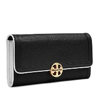 (トリーバーチ) TORY BURCH DUET ENVELOPE CONTINENTAL WALLET BLACK 36741 [並行輸入品]