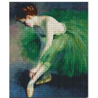Ballet, get ready counted cross stitch kits 14 ct, バレエの準備を取得、46x56cm200x250 クロスステッチ