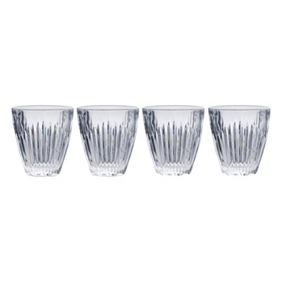 (Double Old Fashioned Glasses) - Mikasa Parkside Double Old Fashioned Glass (Set of 4), 280ml, Clear