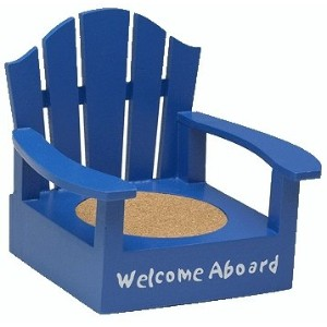 Adirondack Welcome Aboard Naveブルーカラーコースター椅子