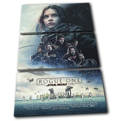 Star Wars Rogue One スターウォーズ ローグワン 3枚組キャンバスアート 壁掛けポスター プリントボックス TREBLE Canvas Art Framed Picture...