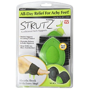 Strutz Cushioned Arch Supports, Green, 2 Count by Strutz [並行輸入品]
