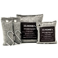 IE.HOME 100% All Natural Activated Bamboo Charcoal Air Purifying Deodorizer Bags 4 Pack Set 3 Sizes...
