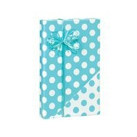 "Turquoise Blue and White Polka Dot Reversible Gift Wrap Roll 24"" X 15' by Premium Gift Wrap [並行輸入品]"