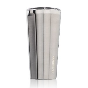 Corkcicle Tumbler Insulated Stainless Steel Bottle/, 16 oz, Brushed Steel by Corkcicle