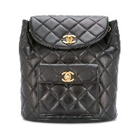 Chanel Vintage drawstring quilted backpack - ブラック