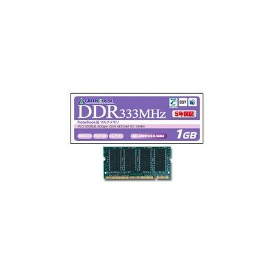 GREEN HOUSE 1GB PC2700 200pin DDR SDRAM SODIMM