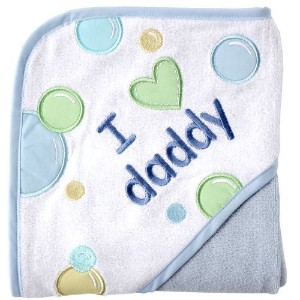 Luvable Friends I Love Family Hooded Towel, Blue Daddy by Luvable Friends [並行輸入品]