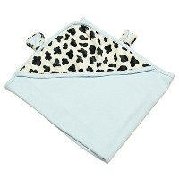 The Babymio Collection Swaddle Blanket, Mooky the Cow Blue by The Babymio Collection [並行輸入品]
