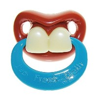 Billy Bob Teeth Binky Two Front Teeth-With Ring Pacifier by Billy Bob [並行輸入品]