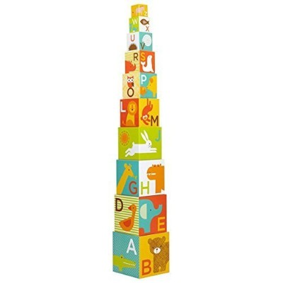 Petit Collage Nesting Blocks, Animal ABC (Discontinued by Manufacturer) by Petit Collage [並行輸入品]