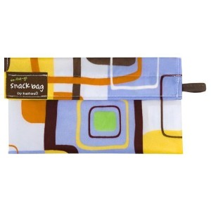 Kushies On The Go Snack Bag, Blue Square, Small by Kushies [並行輸入品]