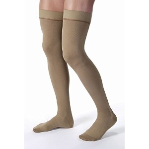 Jobst 115407 Mens 30-40 mmHg Closed Toe Thigh Highs - Size & Color- Khaki X-Large