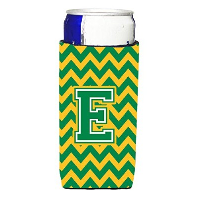 Letter E Chevron Green and Gold Ultra Beverage Insulators forスリム缶cj1059-emuk