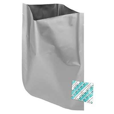 "60 - 1 Gallon (10""x14"") Mylar Bags & 60 - 300cc Oxygen Absorbers For Dried Dehydrated and Long Term..."
