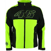Valentino Rossi VR46 Moto GP Panel Soft Shell Jacket Black Official 2017