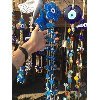 Hand CraftedガラスEvil Eye 41Blessings Wall Hanging
