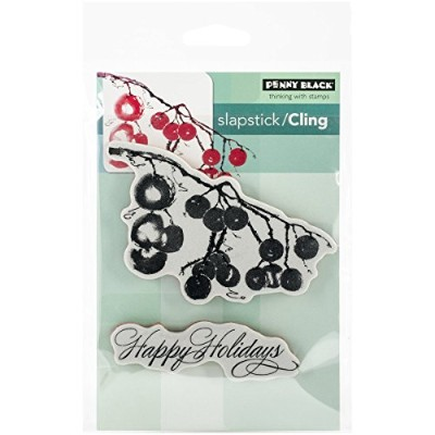 Penny Black Decorative Rubber Stamps, Berry Merry Christmas by Penny Black [並行輸入品]