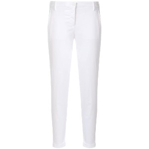 Jacob Cohen slim fit cropped trousers - ホワイト