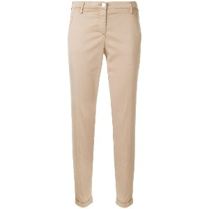 Jacob Cohen slim-fit cropped trousers - ヌード&ナチュラル