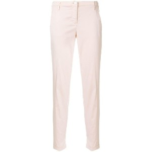Jacob Cohen slim-fit cropped trousers - ピンク&パープル