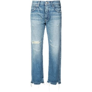 Moussy Vintage cropped straight jeans - ブルー
