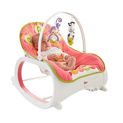 Fisher-Price Infant-to-Toddler Rocker, Floral Confetti [並行輸入品]