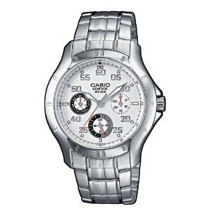 Casio EF-317D-7AVEF Mens Edifice Stainless Steel Bracelet White Dial Watch【並行輸入】