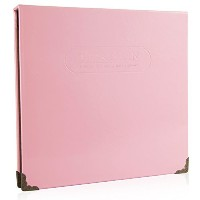 (Baby Pink) - Woodmin 100 Pockets Leather Ticket Stub Album for Sports,Movie,Concert, Banknote Bill...