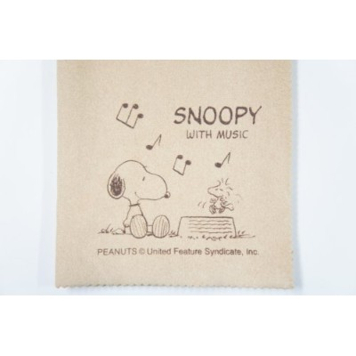 SNOOPY with Music SCLOTH-AM スヌーピーと音符柄 エグゼクティブ・ラグジュアリー・クロス