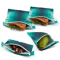 Nordic By Nature サンドイッチバッグ 8 inches x 8 inches ブルー Turquoise Sandwich Bag Set
