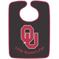 Oklahoma Sooners Two TonedスナップBaby Bib