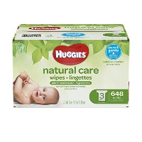 Huggies Natural Care Baby Wipes, Refill, Unscented, Hypoallergenic, Aloe and Vitamin E, 648 Count...