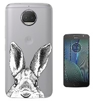 "c01031 - Cool Cute Bunny Rabbit Hiding Sketch Pets Design Motorola Moto G5S 5.2"" Gel ファッショントレンド..."