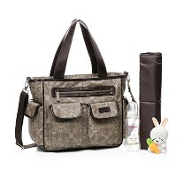 Colorland Aristocratic Tote Diaper Bag Palace Flowers Khaki by Colorland