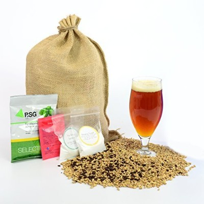 1 Gallon Home Brewing Homebrew Recipe Kit, All-American Amber Ale, 5.9% by Box Brew Kits