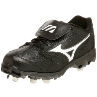 Mizuno Men's 9-Spike Classic Low G4 Cleat,Black/White,8 M
