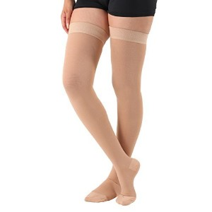 Opaque Compression thigh high With Silicone Border Closed Toe Firm Support 20-30mmHg - Absolute...