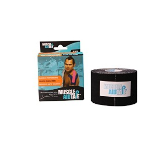 MuscleAidTape, Black, 3.5 Ounce by MuscleAidTape