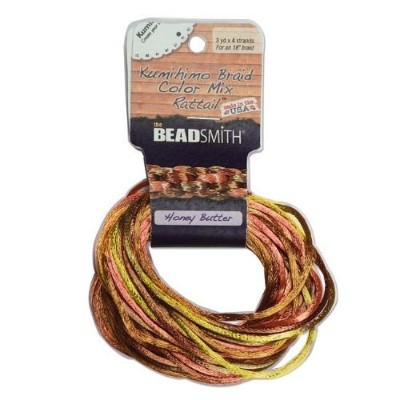 2mm Satin Rattail Braiding Cord Honey Butter 12 Yards For Kumihimo and Craft by Beadsmith [並行輸入品]