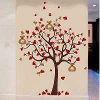Pop Decors PT-0237-Vc Wall Decal and Sticker, Love Heart Tree by Pop Decors