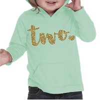 Girl Second Birthday Shirt, Second Birthday Outfit, Two Year Old Birthday Outfit (2T, Ice Green) by...