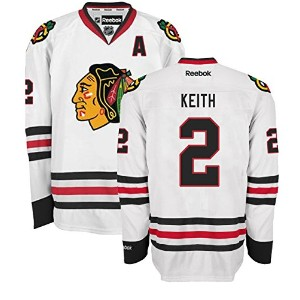 Duncan Keith Chicago Blackhawks RoadホワイトPremier Jersey by Reebok M ホワイト