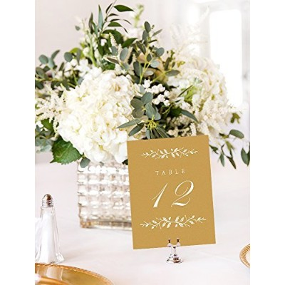 Wedding Table Numbers Elegant 1-12 Gold Table Numbers Double Sided on Heavy Cardstock with...
