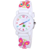 venhoo Kids Watches Cartoon防水シリコン子供腕時計Time Teacher Gifts for Boys Girls ホワイト
